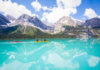 Jasper National Park's Maligne Lake provides an awesome setting for kayakers