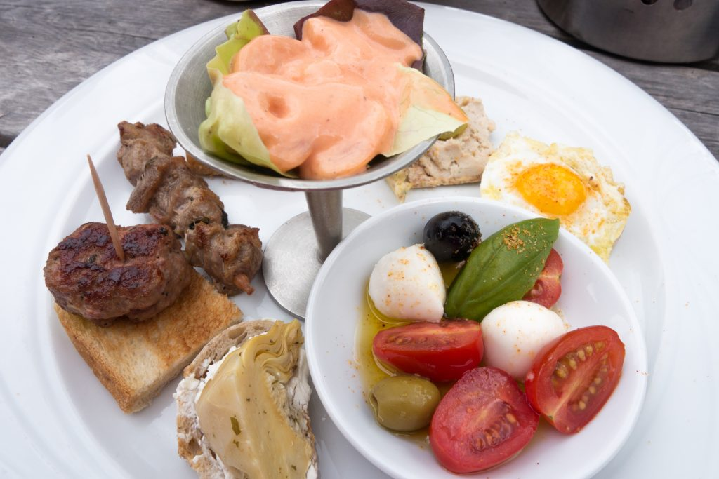 Swiss Alps golf - the halfway house Mulligan's serves sophisticated fare, local tapas