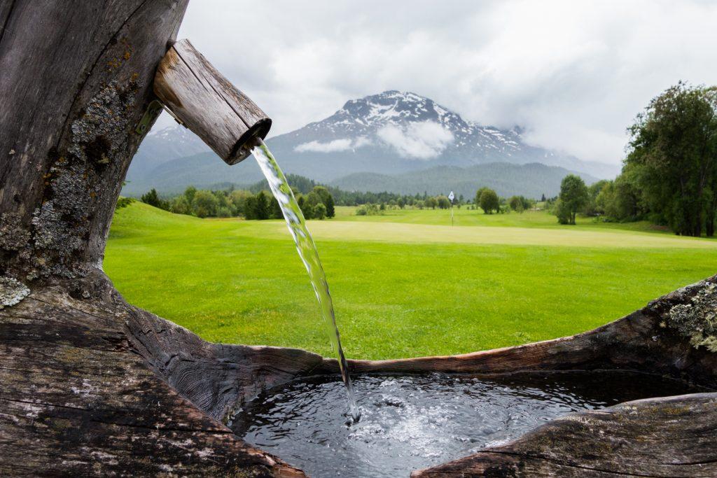 Swiss Alps for golf: Samedan's 18th hole